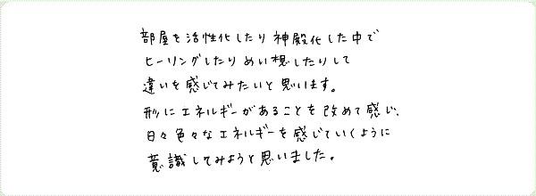 神聖幾何学1のご感想0014
