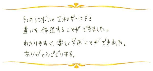 神聖幾何学1のご感想0063